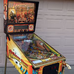 Collector Quality Indiana Jones Pinball Machine side