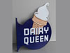 DAIRY QUEEN Ice Cream Cone Flange Sign