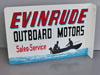 EVINRUDE OUTBOARD Sales and Service FLANGE SIGN