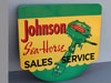 JOHNSON SEAHORSE Sales Service Sign