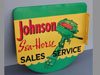 JOHNSON SEAHORSE Sales Service Flange Sign