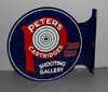 PETERS AMMUNITION Shooting Gallery Flange Sign