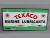 TEXACO MARINE FLANGE SIGN