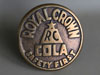 ROYAL CROWN COLA Brass Sidewalk Marker