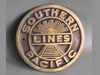 SOUTHERN PACIFIC RAILROAD Train Brass Sign