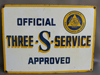 3-S SERVICE Shell Gas Station 2 Sided Sign