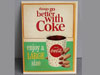 COCA COLA CUP & HAND TGBWC Water Decal Sign