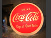COCA COLA Light Up Button Sign