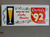 OERTELS 92 BEER Light Up Sign