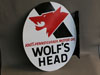 WOLFS HEAD OIL Flange Sign